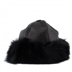 Womens leather hats