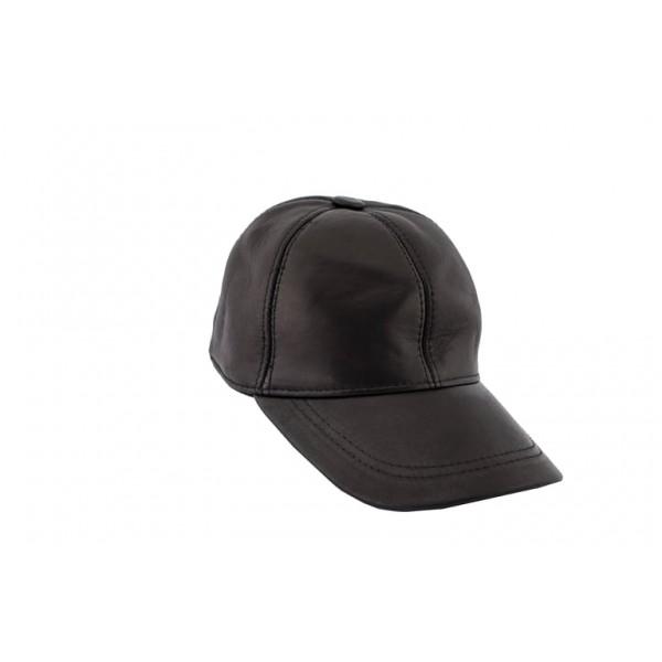 Leather jokey hat -M-JOKEY CAP-BLK