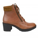 WOMENS Leather Boots with heels Taba- W-315-286-taba
