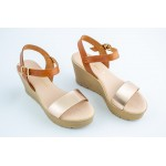 Womens leather SANDAL-[TABAC-COOPER] -74-TABA