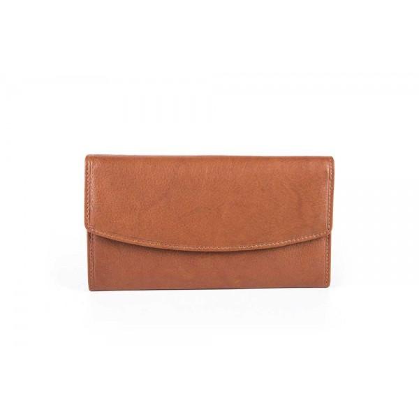 W-12-825 Taba Womens genuine leather wallet in tan