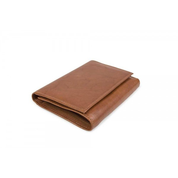 W-AN-1774-COGNAC Womens wallet genuine leather in brown