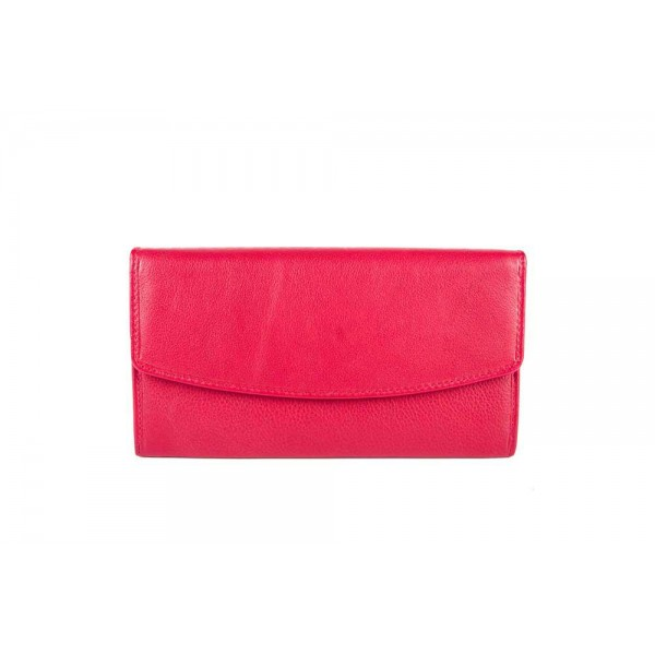 W-1825-RED Womens Leather wallet red