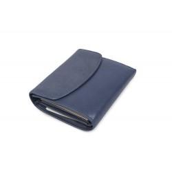 W AN-1787-BLUE-Womens wallet genuine leather in blue