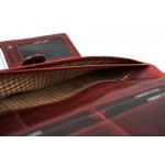 W-11-796 KARA-RED Womens genuine leather wallet in brandy colour