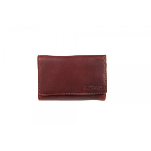 W-11-893 KA-RED Womens genuine leather wallet red