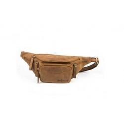 Mens leather waist bag in oil brown-sak-100142-oil