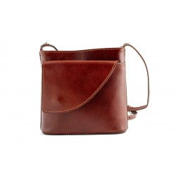 Ladies Leather small crossbody bag in brown-W-SML-B52-BR