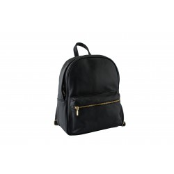 Woman's leather backpack in black-W-SAK-220