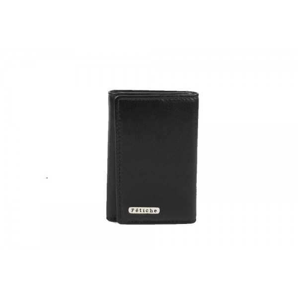 Genuine leather key case black M-R 30023-BLK