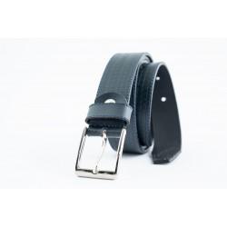 Womens leather belt in blue-W-3-BLU-BEL