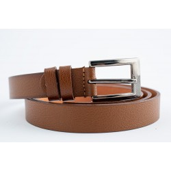Womens leather belt in cognac color-W-2.5-TABA-BEL