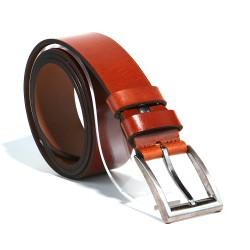 Men's leather belt color cognac M4 cognac