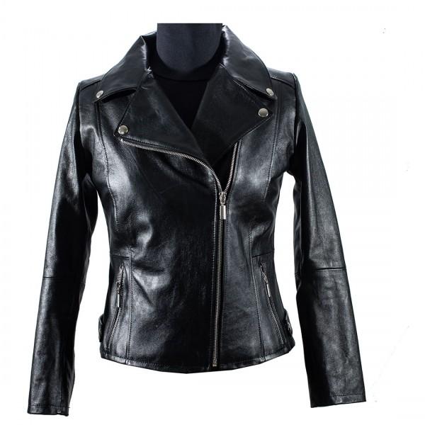 Ladies short perfecto jacket -230 DONNER PERFECTO-BLK