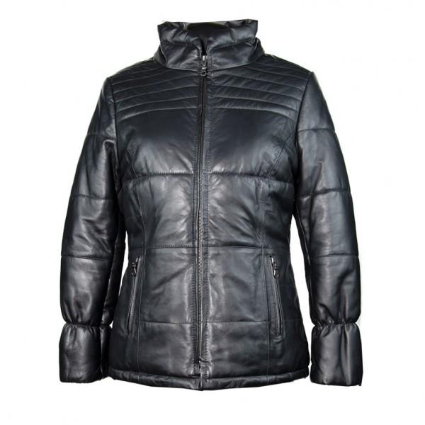 W-KRISTI-BLK Womens genuine leather jacket in black